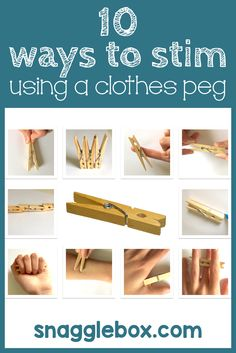 Did you know that there are LOTS of ways to stim using just a common clothes peg? They're cheap, easy, flexible, portable, quiet, non-distracting ways to stim. Great for the classroom!