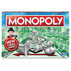 This version of the Monopoly game welcomes the Rubber Ducky, Tyrannosaurus Rex, and Penguin into its family of tokens. Choose your token, place it on GO!, and roll the dice to own it all. There can be only one winner in the Monopoly game - will it be you? Family Boards, Family Board Games, Fun Board Games, Games To Play, Monopoly Board, Monopoly Game, Monopole, Indoor Games For Kids, Classic Board Games