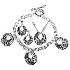 Aquatic Luna Set - Necklace, Earrings and Bracelet - Pewter Bracelets - Fashion Jewelry. $40.50. Necklace, Earrings and Bracelet. Aquatic Luna Set. Pewter