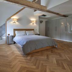 Our Friday Flooring is the beauty of real wood floors in bedroom design. This is Zigzag herringbone wood. Oak Parquet Flooring, Engineered Wood Floors, Hardwood Floors, Herringbone Wood Floor, Real Wood Floors, I Love Makeup, Bedroom Flooring, House Design, Home Decor