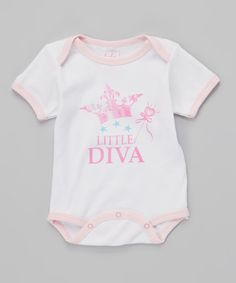 Look what I found on #zulily! White & Pink 'Little Diva' Bodysuit - Infant by Mon Cheri Baby #zulilyfinds