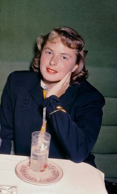 Ingrid Bergman shortly after her arrival in the United States.