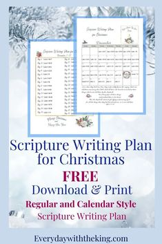 December Scripture Writing - Every Day with the King