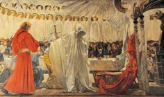 "The-Quest-and-Achievement-of-the-Holy-Grail""-Panel-III-by-Edwin-Austin-Abbey-détail"