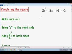 Solving A Quadratic Equation By Completing The Square - A Plus Topper   https://www.aplustopper.com/solving-a-quadratic-equation-by-completing-the-square/  completing the square examples