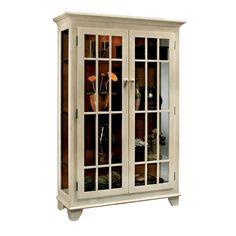 Philip Reinisch Co. Color Time Monterey Two-Door Display Sandshell Cabinet