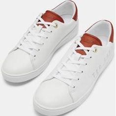Leather sneakers with Ted Baker logo Veja Sneakers, White Sneakers, Leather Sneakers, High Top Sneakers, Sneakers Women, Valentino Garavani, Valentino Shoes, Katie Holmes, Nike Cortez