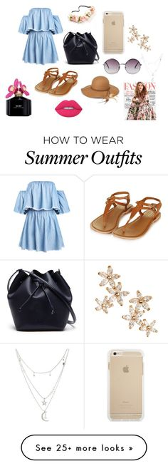 """Summer outfit"" by natalie-lebreton on Polyvore featuring Lacoste, Monki, Steve Madden, Bonheur, Charlotte Russe, Lime Crime, Marc Jacobs and Gabor"