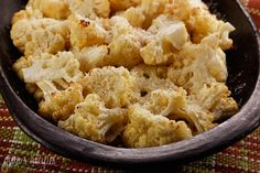 Oven Roasted Cauliflower ~ I made it using frozen Broccoli and Cauliflower and it was amazing.  My new favorite side dish!