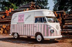 Polly's Parlour vintage ice cream van 30 mile radius from Market Drayton, Shropshire