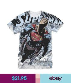 0c0fd90a39e55 T-Shirts Adult Men s Dc Comics Super Hero Superman Steel Man Graphic White  T-