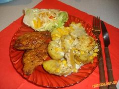 Pečené zemiaky s nivou a kukuricou