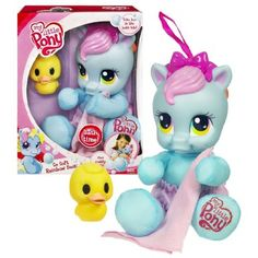 Amazon.com: Hasbro Year 2009 My Little Pony Bath Time Series 9 Inch Plush Toy - So Soft Rainbow Dash with Washcloth, Ducky and Removable Diaper: Toys & Games