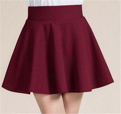 Summer style sexy Skirt for Girl lady Korean Short Skater Fashion female mini Skirt Women Clothing Bottoms