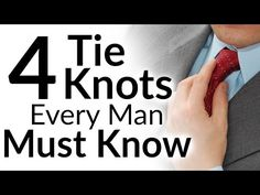 4 Tie Knots Every Man Must Know | Classic Necktie Knots For Men | Four In Hand | Full Windsor | Half-Windsor | Bow Tie
