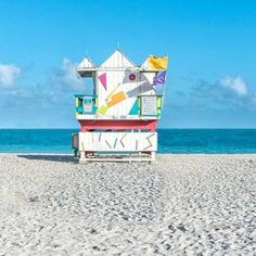 Trademark Global Richard Silver Miami Beach V Lifeguard Canvas Art - 27 x 33 Abstract Canvas, Canvas Wall Art, Wall Art Prints, Poster Prints, Canvas Prints, Thing 1, Outdoor School, Miami Beach, South Beach