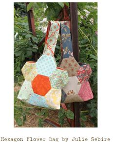 Hexagon Flower Bag Sewing Tutorial