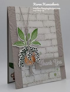 Cool Cards, Diy Cards, Bloom Where Youre Planted, Leaf Cards, Fabric Cards, Stamping Up Cards, Baby Kind, Card Making Inspiration, Folded Cards