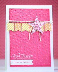 Simply Stars created by Alisa Tilsner www.alisatilsner.com #bannerblast #simplystars #stampinup
