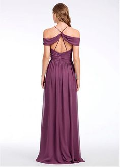 Buy discount Exquisite Chiffon Spaghetti Straps Neckline Full-length A-line Bridesmaid Dress at Dressilyme.com