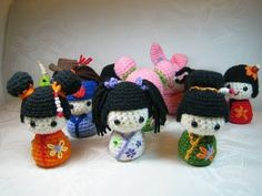 Free Japanese Amigurumi Patterns | Susie Farmgirl: Kokeshi Kokeshi and More Kokeshi: