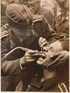 He's faced the Russians without fear,..but he's no match for the field dentist.