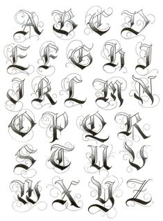 by Enrique Cast. Graffiti Alphabet Fonts, Alphabet Cursif, Calligraphy Fonts Alphabet, Tattoo Fonts Alphabet, Graffiti Lettering Fonts, Chicano Lettering, Hand Lettering Alphabet, Creative Lettering, Graffiti Letters Styles