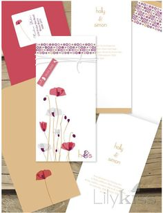 Items similar to Lilykiss wedding invitation - stunning, modern, fun design - paper poppies on Etsy Wedding Invitations Australia, Affordable Wedding Invitations, Laser Cut Wedding Invitations, Wedding Invitation Design, Wedding Stationery, Invites, Our Wedding Day, Special Day, Poppies