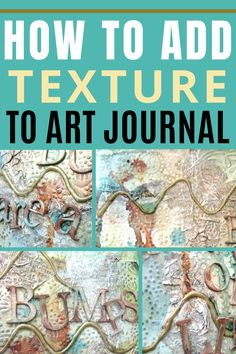 Check out these 4 techniques to add texture to an art journal page Craft Projects For Adults, Arts And Crafts Projects, Art Journal Pages, Art Journals, Junk Journal, Old Book Crafts, Art And Craft Videos, Creative Arts And Crafts, Stencil Printing