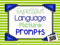 This freebie targets expressive language. It includes real life pictures on the top of the page and language prompts on the bottom of the page. Students can verbally answer the questions or write their answers to practice written language skills. There are a total of 10 pictures included.
