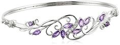Sterling Silver Amethyst and White Topaz Bangle Bracelet Amazon Curated Collection http://www.amazon.com/dp/B00SKWYZBK/ref=cm_sw_r_pi_dp_kup.ub091XK9E