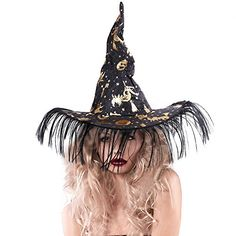 Witch Hat Party Good Decoration: Classic design witch hat made perfect for any witch costumes for Halloween Pet Halloween Costumes, Witch Costumes, Pet Costumes, Halloween Town, Spirit Halloween, Baby Halloween, Puppy Costume, Party Hats, Pumpkin