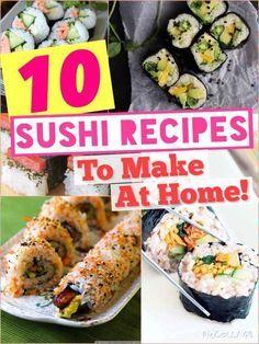 10 Sushi Recipes To Make At Home