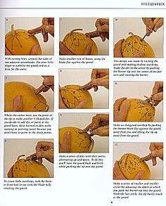 Free Gourd Carving Patterns | Excerpt from 'Gourd Pyrography', by Jim Widess