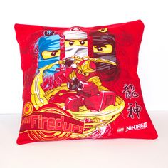 "One of a kind Ninjago pillow. - As soft as your favorite tee shirt - 14"" x 14"" pillow - Envelope closure in the back for easy washing and care - Made in the U.S."