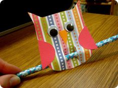 owl pencil holder plus sayings  Tree-Mendous work with a tree bulletin board...