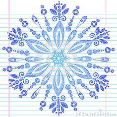 Hand-Drawn Sketchy Doodle Winter Snowflake by Blue67, via Dreamstime