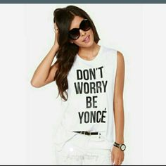 SALE Don't Worry T Don't Worry T - Tag reads XL but looks to fit a size M - New in package Tops Tees - Short Sleeve