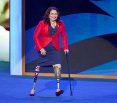Meet Tammy Duckworth. She lost both of her legs serving our country in the Iraq War. Tammy was elected to the U.S. House of Representatives in Illinois. She the first Thai-American woman elected to Congress.