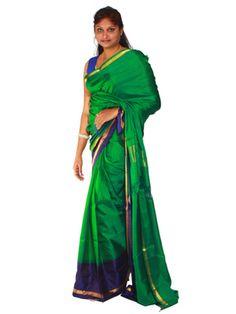 Uppada Saree plain design