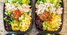 If you are finding something delicious for your dinningtable, here I have great idea that you will love, which Meal Prep Burrito Bowls.I often make this good food for my daily meal. And so lucky, all member in myfamily love eating the dish so much. Pre Cooked Chicken, How To Cook Chicken, Meal Prep Containers, Burrito Bowls, Burrito Bowl Meal Prep, Love Eat, Daily Meals, Burritos, No Cook Meals