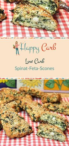 Low Carb Spinat-Feta-Scones Tasty for the break or as bread for salad. Low Carb, No Carbs, Gluten Fr Sugar Free Diet, Sugar Free Recipes, Low Carb Recipes, Healthy Recipes, Veg Recipes, Yummy Recipes, Dinner Recipes, Lacto Vegetarian Diet, Quick Vegetarian Meals