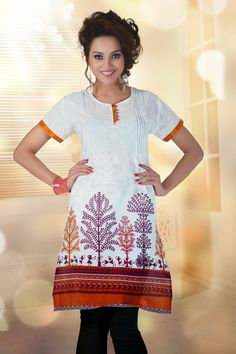 Latest #cotton comfort printed beautiful Indian #kurti shop online with #craftshopsindia