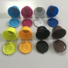1 pz usare 50 volte 8 Colori Dolce Gusto caffè Capsule nescafé dolce gusto riutilizzabile capsule Ricaricabili capsule dolce gusto