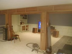 Every Cave Man Needs a Man Cave – House Viral Gossip Man Cave Garage, Man Cave Basement, Basement Makeover, Basement Plans, Basement Stairs, Basement Renovations, Home Remodeling, Basement Ideas, Rustic Basement