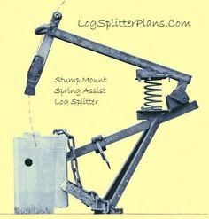 Stump Mount Spring Assist Manual Log Splitter Plans