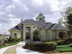 Eplans Mediterranean House Plan - Expansive Rear Views - 3313 Square Feet and 3 Bedrooms from Eplans - House Plan Code HWEPL56721