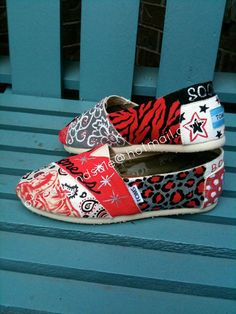 Custom hand painted OU TOMS made to order by okieartandsole