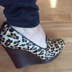 Seychelles leopard shoes Seychelles leopard wedge shoes only worn once inside is very clean and the bottom soles are very clean. Really no sings of wear Seychelles Shoes Wedges