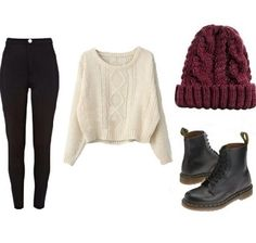 Comfy winter outfit.